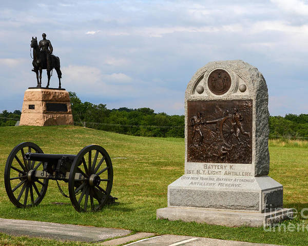 Gettysburg Poster featuring the photograph Cemetery Ridge Gettysburg by James Brunker