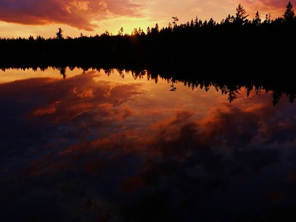 Center Pond Poster featuring the photograph Center Pond Baxter State Park by Tim Canwell