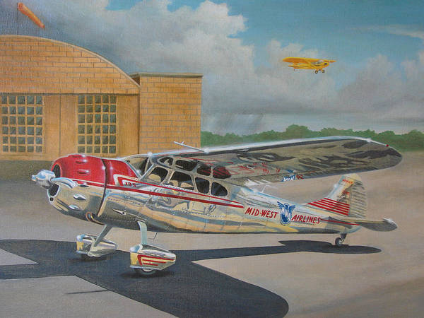 Aviation Poster featuring the painting Cessna 195 by Stuart Swartz