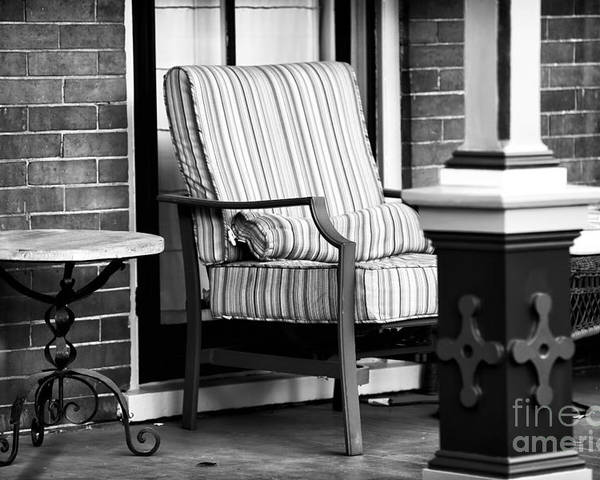 Chair On The Porch Poster featuring the photograph Chair On The Porch by John Rizzuto