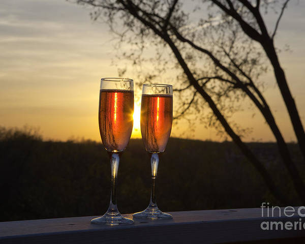 Champagne Poster featuring the photograph Champagne Sunset by Kay Pickens