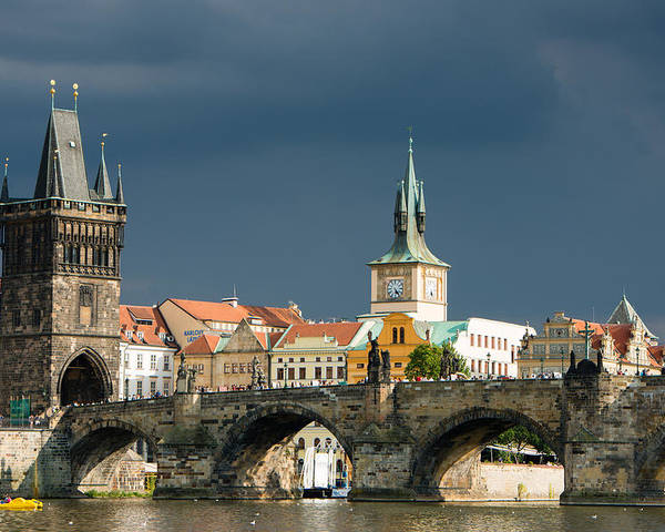 Charles Brigde Poster featuring the photograph Charles Bridge Prague by Matthias Hauser