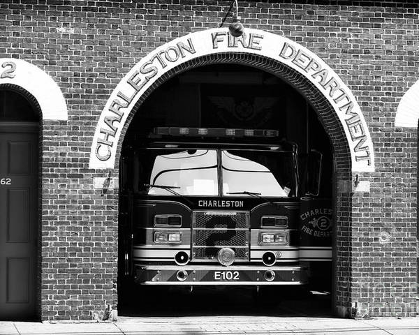 Charleston Fire Department Poster featuring the photograph Charleston Fire Department by John Rizzuto