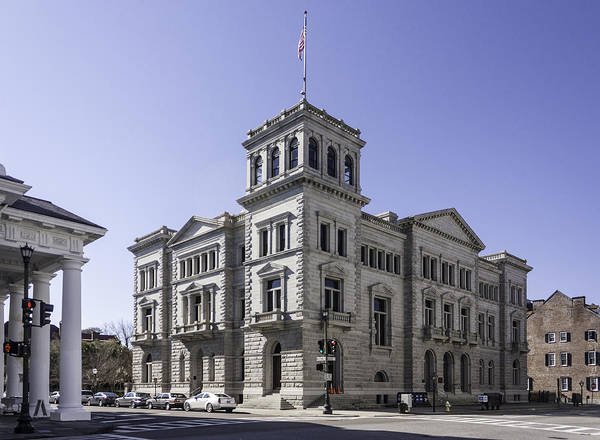 Post Office Poster featuring the photograph Charleston Post Office And Courthouse by Lynn Palmer