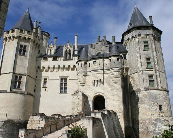 Castle Poster featuring the photograph Chateau Saumur by Christiane Schulze Art And Photography