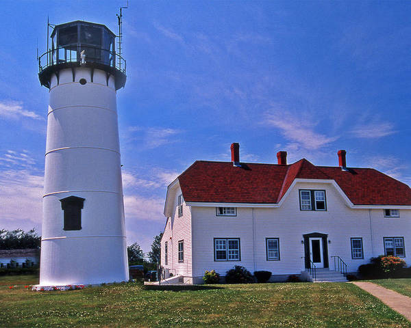 Lighthouses Poster featuring the photograph Chatham Light by Skip Willits