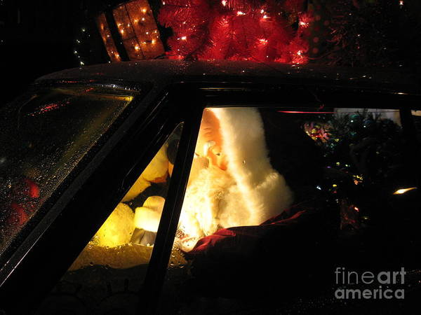 Christmas Poster featuring the photograph Checking It Twice by Nancy Dole McGuigan