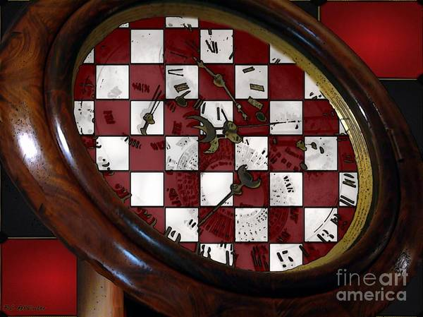 Antique Poster featuring the painting Checkmate by RC DeWinter