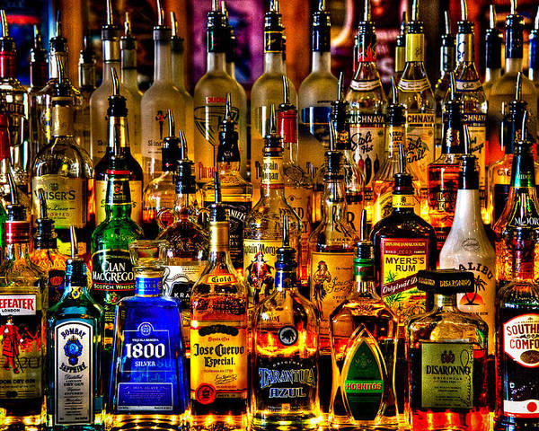 Booze Poster featuring the photograph Cheers - Alcohol Galore by David Patterson
