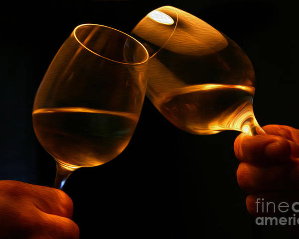 Alcohol Poster featuring the digital art Cheers by Patricia Hofmeester