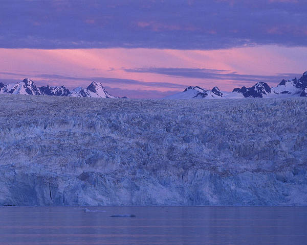 Glacier Poster featuring the photograph Chenega Glacier At Sunrise by Tim Grams