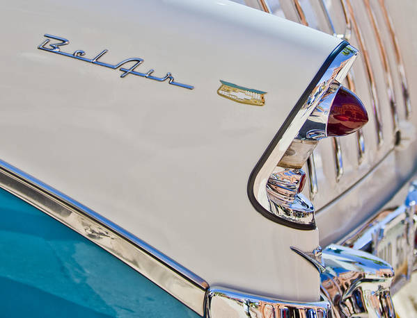 Chevrolet Bel-air Poster featuring the photograph Chevrolet Bel-air Taillight by Jill Reger
