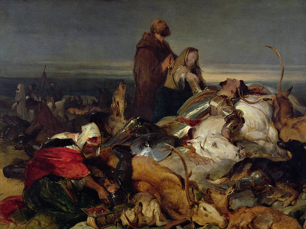 Scottish Poster featuring the painting Chevy Chase by Sir Edwin Landseer