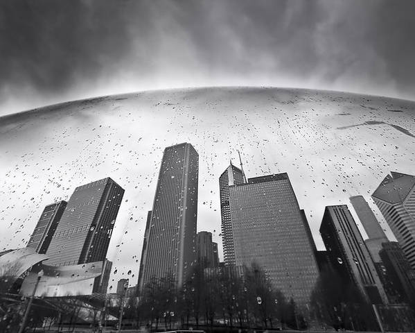 Chicago Poster featuring the photograph Chicago Black And White Photography by Dapixara Art