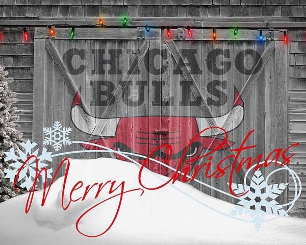 Bulls Poster featuring the photograph Chicago Bulls by Joe Hamilton
