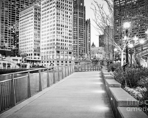 America Poster featuring the photograph Chicago Downtown City Riverwalk by Paul Velgos