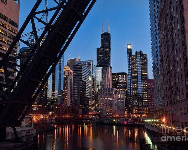Chicago Poster featuring the photograph Chicago Loop by Jeff Lewis