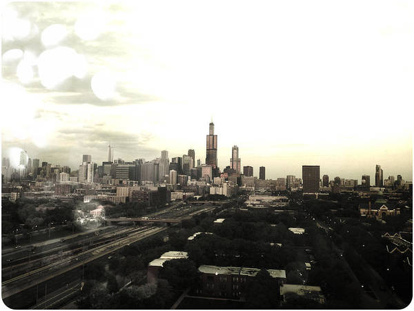 Chicago Poster featuring the photograph Chicago Skyline by Mike Maher