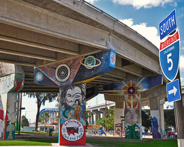 Color Poster featuring the photograph Chicano Park by Todd Hartzo