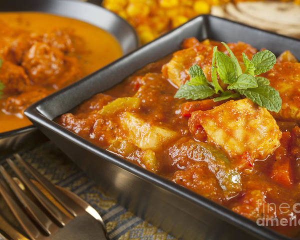 Chana Dhal Poster featuring the photograph Chicken Jalfrezi Curry by Colin and Linda McKie