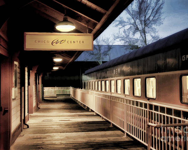 Train Poster featuring the photograph Chico Art Center by Kathleen Gauthier