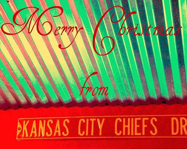 Christmas Poster featuring the photograph Chiefs Christmas by Chris Berry