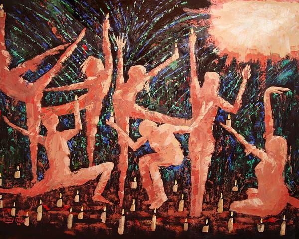 Children Of The Light Framed Prints Poster featuring the painting Children Of The Light by Anthony Falbo