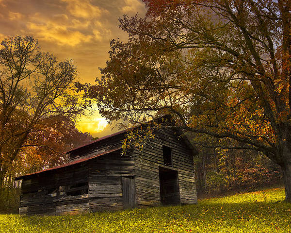 Appalachia Poster featuring the photograph Chill Of An Early Fall by Debra and Dave Vanderlaan