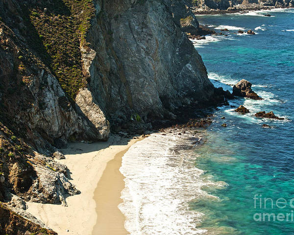 Point Lobos Poster featuring the photograph China Cove At Point Lobos State Beach by Artist and Photographer Laura Wrede