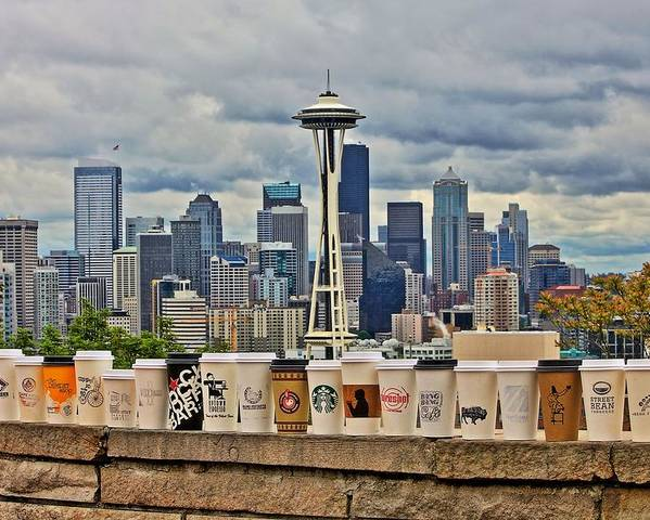 Seattle Poster featuring the photograph Choose Your Brew by Benjamin Yeager