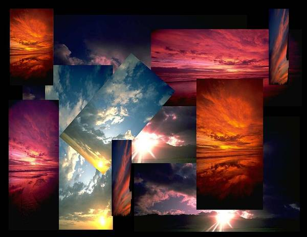Sun Poster featuring the digital art Choose Your Own Sunrise by Darryl Kravitz