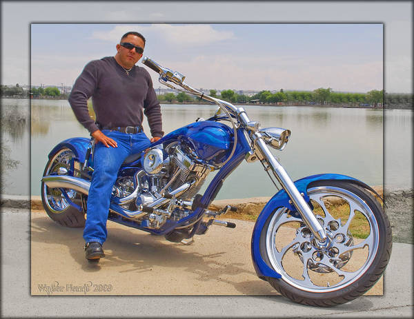 Chopper Motorcycle Poster featuring the photograph Chopper Motorcycle by Walter Herrit