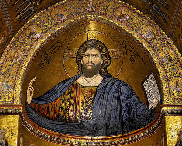 Christ Poster featuring the photograph Christ Pantocrator Mosaic by RicardMN Photography