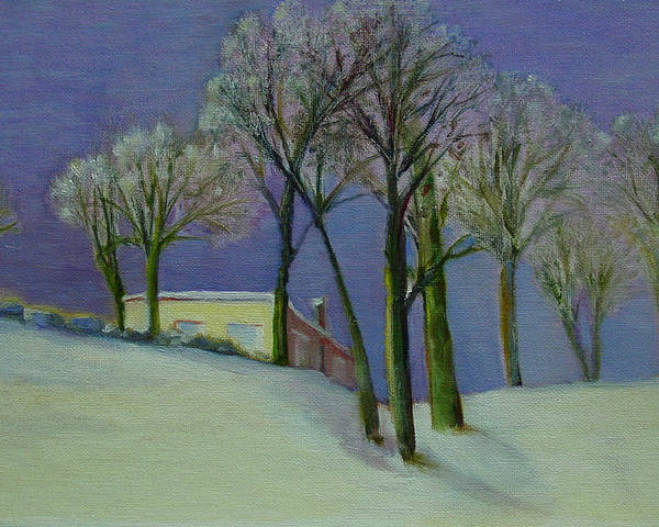 Christmas Card Poster featuring the painting Christmas Eve       copyrighted by Kathleen Hoekstra