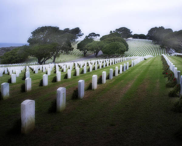 Fort Rosecrans National Cemetery Poster featuring the photograph Christmas Fort Rosecrans National Cemetery by Hugh Smith