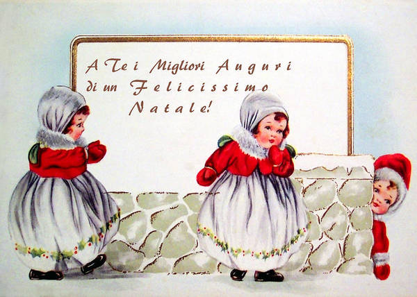 Italian Poster featuring the photograph Christmas Wishes In Italian by Munir Alawi
