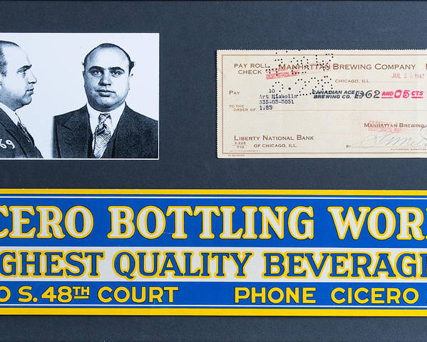 Capone Poster featuring the painting Cicero Bottling Works Chicago Brewing by Kurt Olson