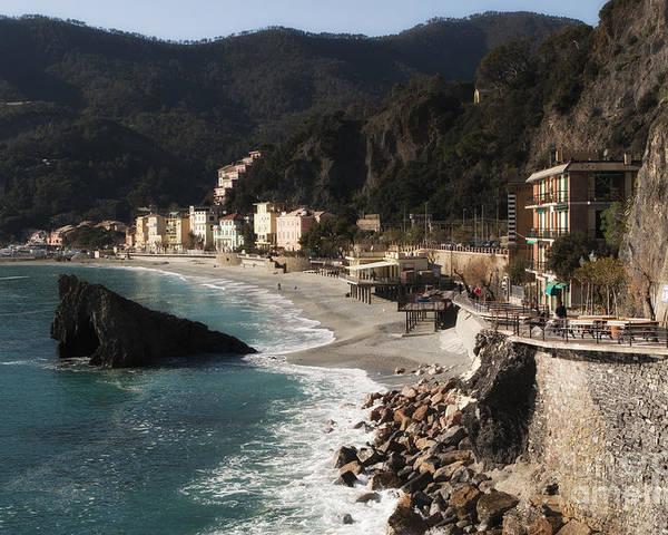 La Spezia Poster featuring the photograph Cinque Terre by Leslie Leda