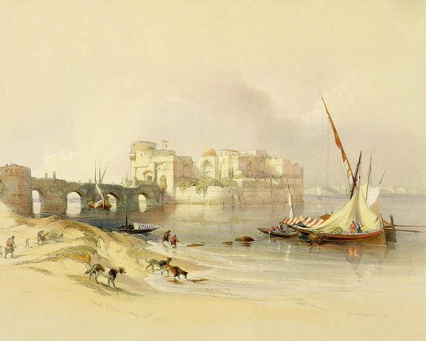 Port Poster featuring the painting Citadel Of Sidon by David Roberts