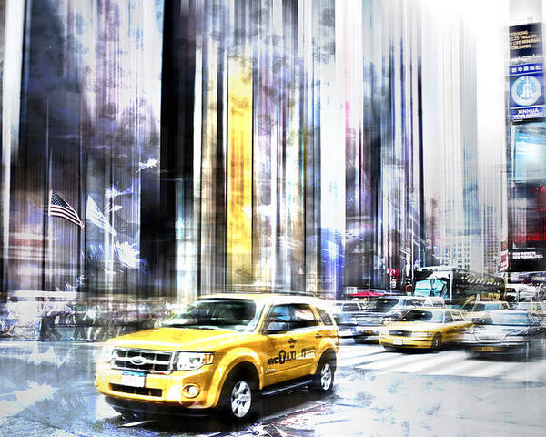 Big Apple Poster featuring the photograph City-art Times Square II by Melanie Viola