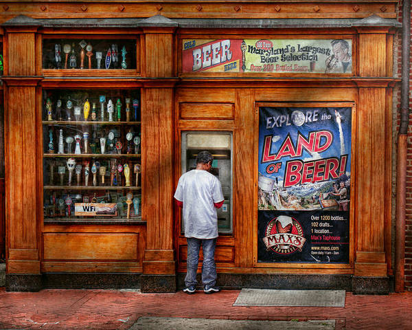 Baltimore Poster featuring the photograph City - Baltimore Md - Explore The Land Of Beer by Mike Savad