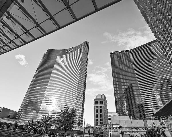 Vdara Hotel And Spa Poster featuring the photograph Citycenter - View Of The Vdara Hotel And Spa Located In Citycenter In Las Vegas by Jamie Pham