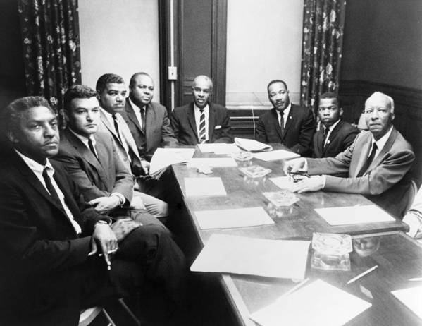 1964 Poster featuring the photograph Civil Rights Leaders, 1964 by Granger