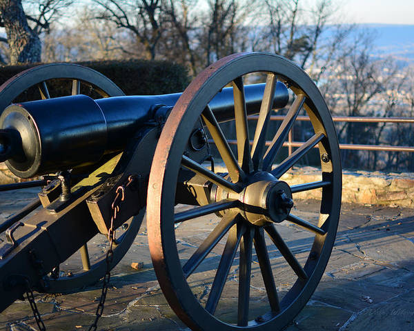 Cannon Poster featuring the photograph Civil War Cannon by Dale Wilson