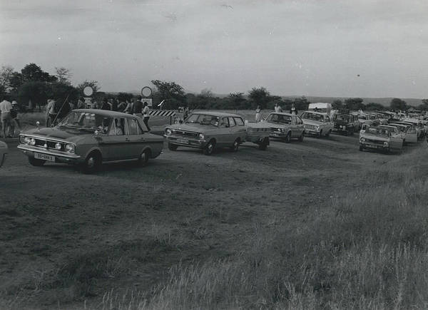 retro Images Archive Poster featuring the photograph Civilian Traffic On Rhodesian Highways In Convoy by Retro Images Archive