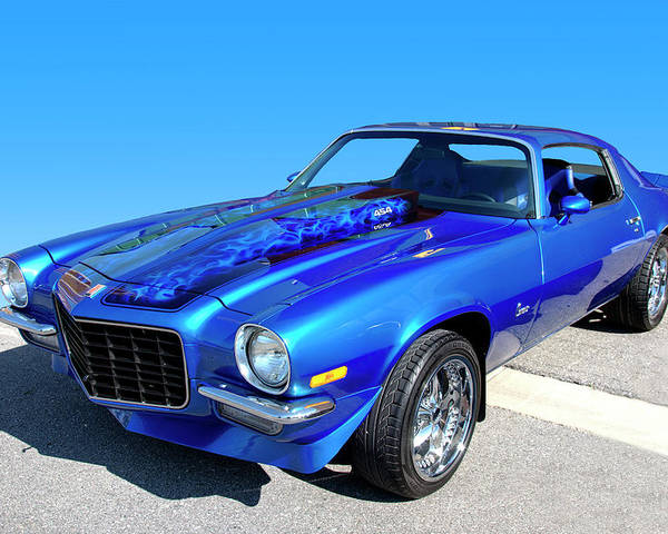 1973 Poster featuring the photograph Classic Car 1973 Camaro 1 by Paul Cannon