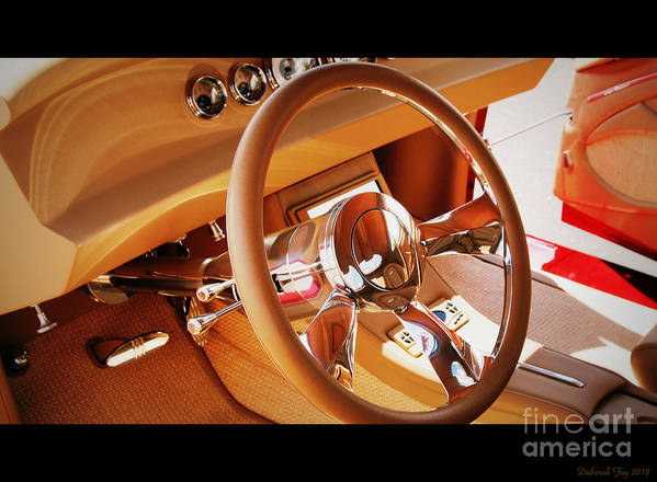 Coupe Photos Poster featuring the photograph Classic Custom Car Interior by Deborah Fay