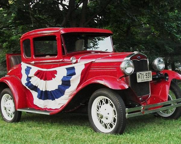Car Poster featuring the photograph Classic Independence by Danielle Craig