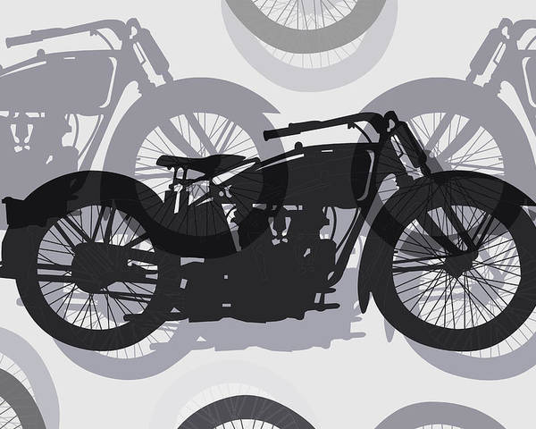 Motorcycle Poster featuring the digital art Classic Motorcycle by Daniel Hagerman