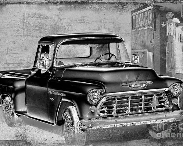 1955 Chevrolet Pickup Poster featuring the photograph Classic Ride by Betty LaRue